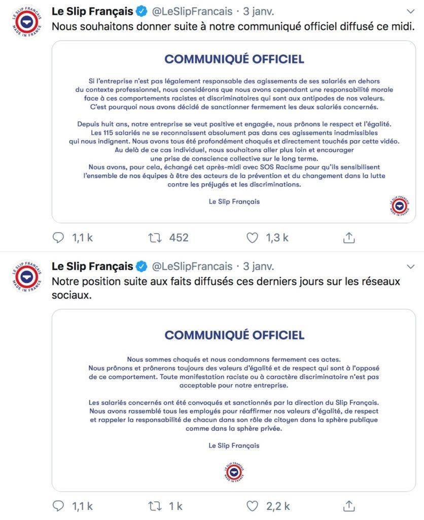 Communication de crise : le cas du Slip Français 3
